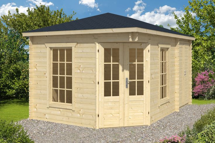 Sigrid Log Cabin With Shed Annexe 3x4 4m For The Home