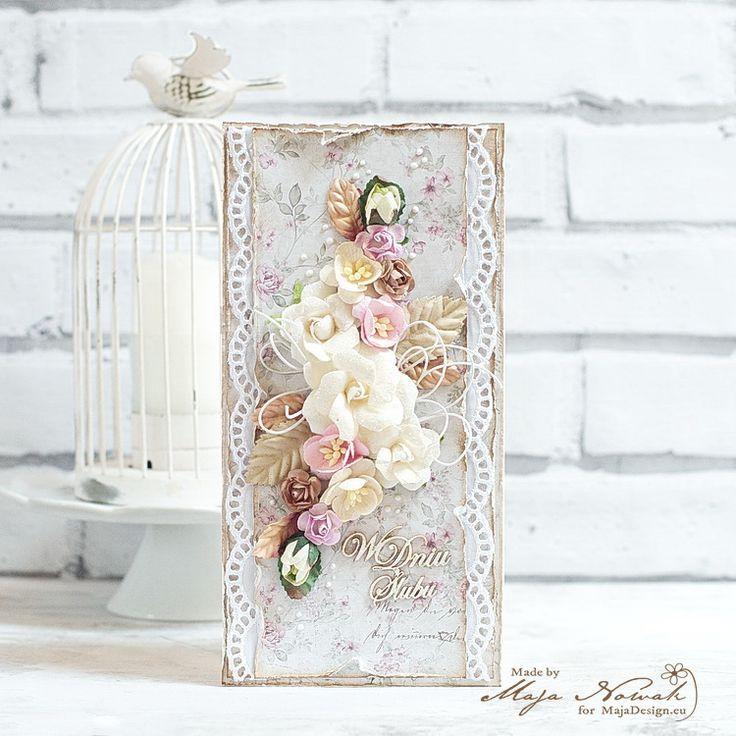 CraftHobby Oliwiaen: Wedding Card (w/tutorial). Kartka ślubna (z kursem)