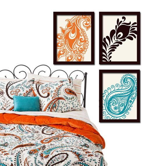 paisley wall art canvas or prints peacock feather. Black Bedroom Furniture Sets. Home Design Ideas