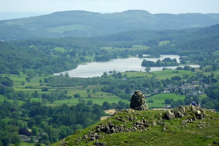 Looking down on Hawkshead and Esthwaite Water. Image by Andrew / CC BY 2.0