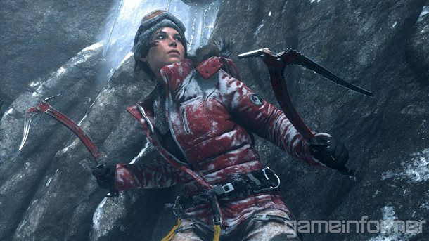 And here's a closer look at Lara Croft's new look for the Rise of the Tomb Raider game.