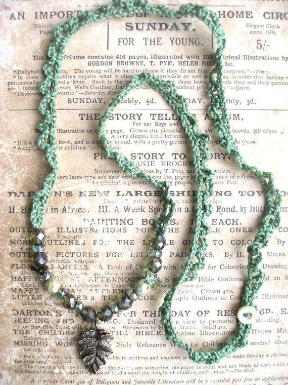 crochet & beads necklace