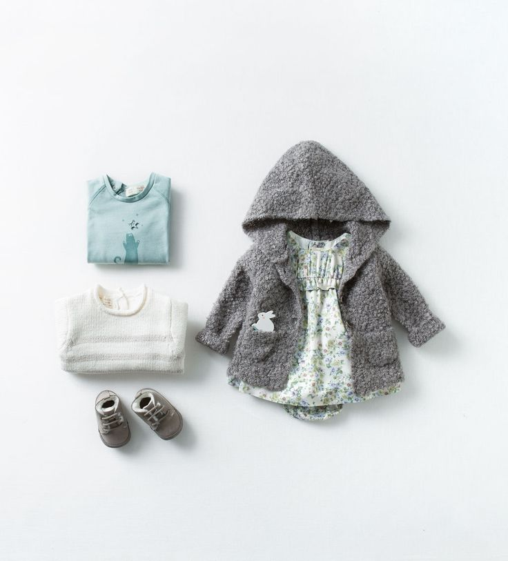 Zara baby hooded cardigan with printed dress paired with - Zara kids online espana ...