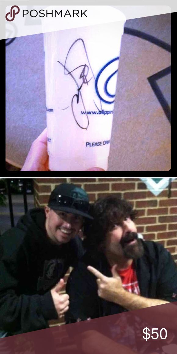 mick foley autographed cup