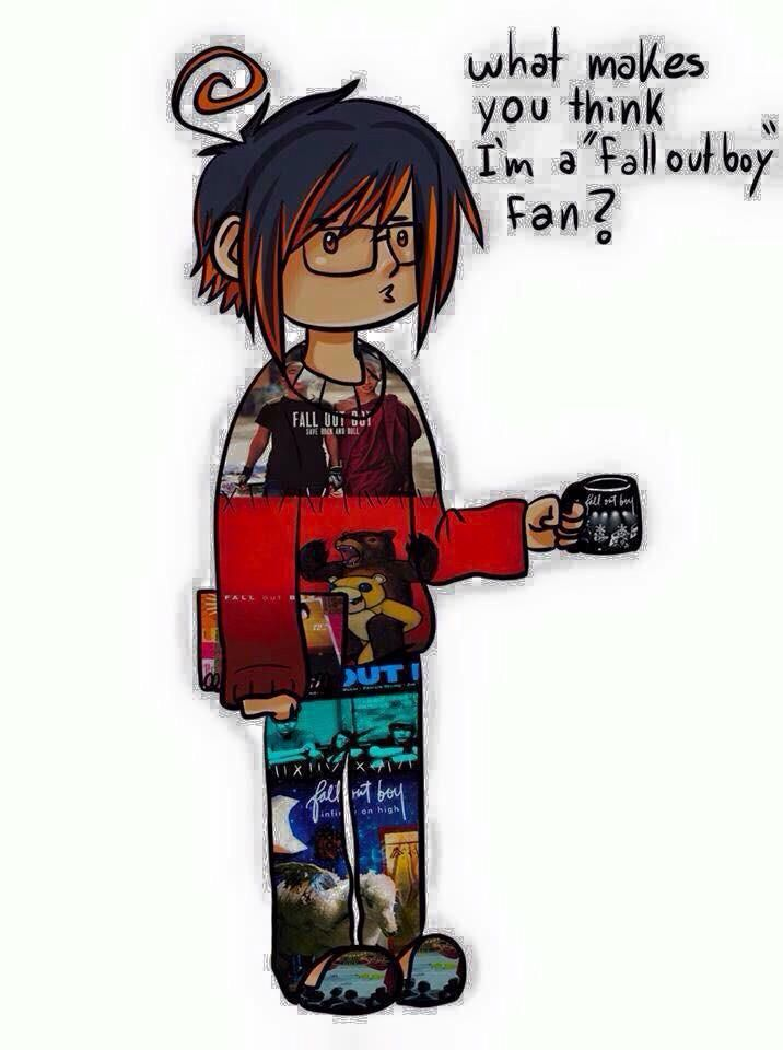 fall out boy I personally think it's cute that they put the quotes around gal out boy instead of fan
