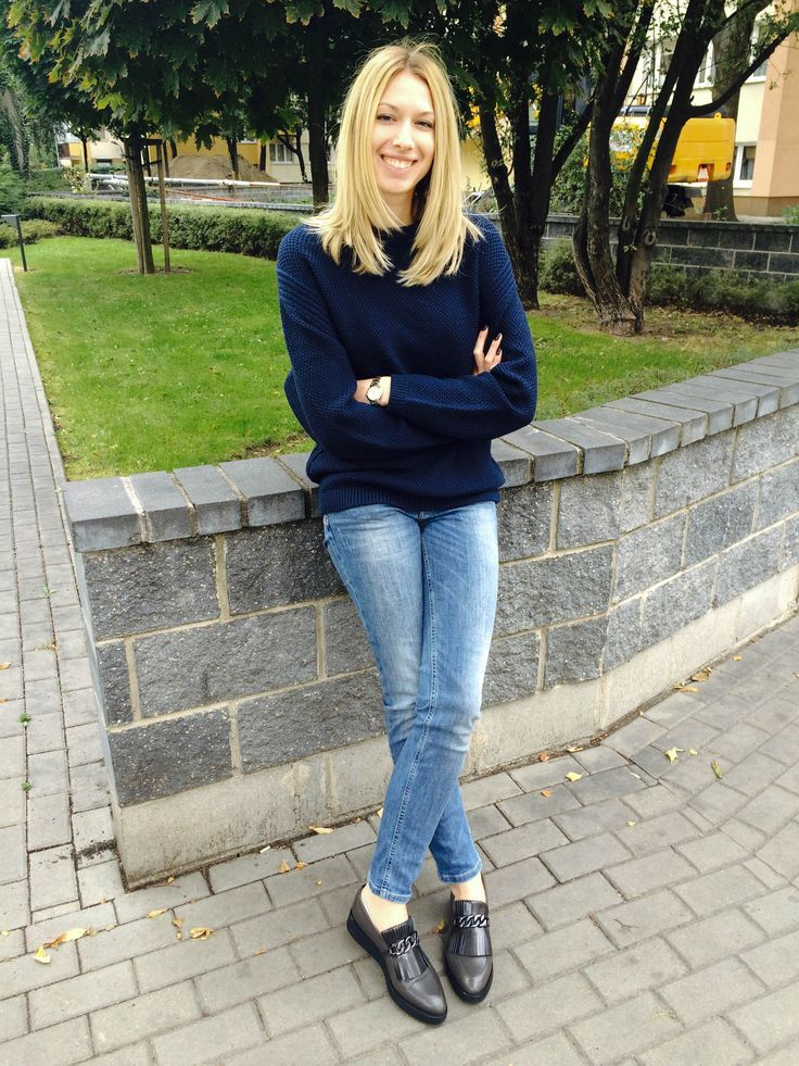 City and the Shoes | Our CEO, Monika, wearing Zurbano Swing loafers.