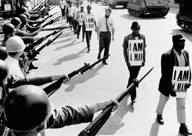 "Civil Rights movement signs - ""I am a man"" 