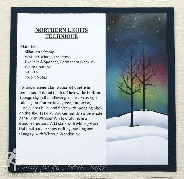 Technique Tuesday: Northern Lights by RunningwScissorsStamper
