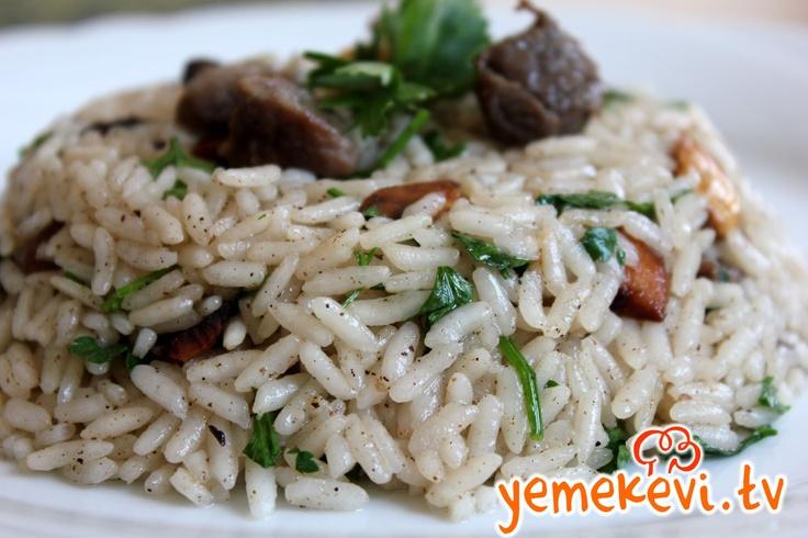 Bademli Etli İç Pilav l Turkish Cuisine #turkishcuisine, www.yemekevi.tv, www.facebook.com/YemekeviTV, www.twitter.com/yemekevitv, www.youtube.com/user/fvayni
