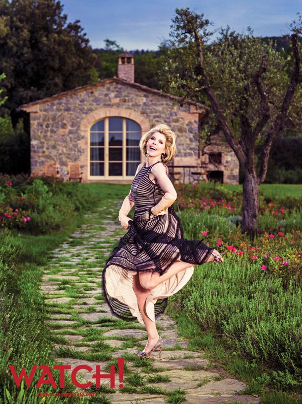 The Good Wife star Christine Baranski marks a new chapter in Tuscany.