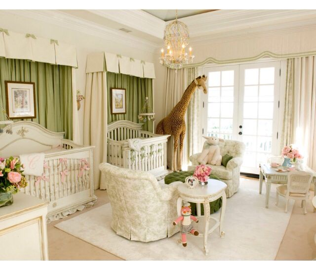 Twins - Nursery. This is why I need twins one day. So pretty! :)