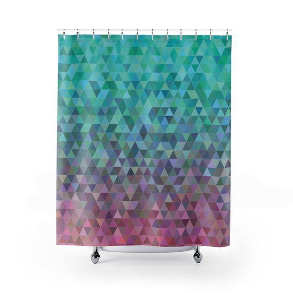 Mosaic Shower Curtain Bathroom Decor Bath