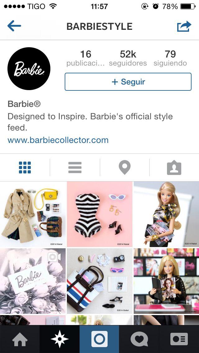 Ya todos tienen Instagram. Hasta la muñeca Barbie. Una cuenta donde presume cada uno de sus accesorios y entrar en la #actualidad #marcas #barbie #instagram