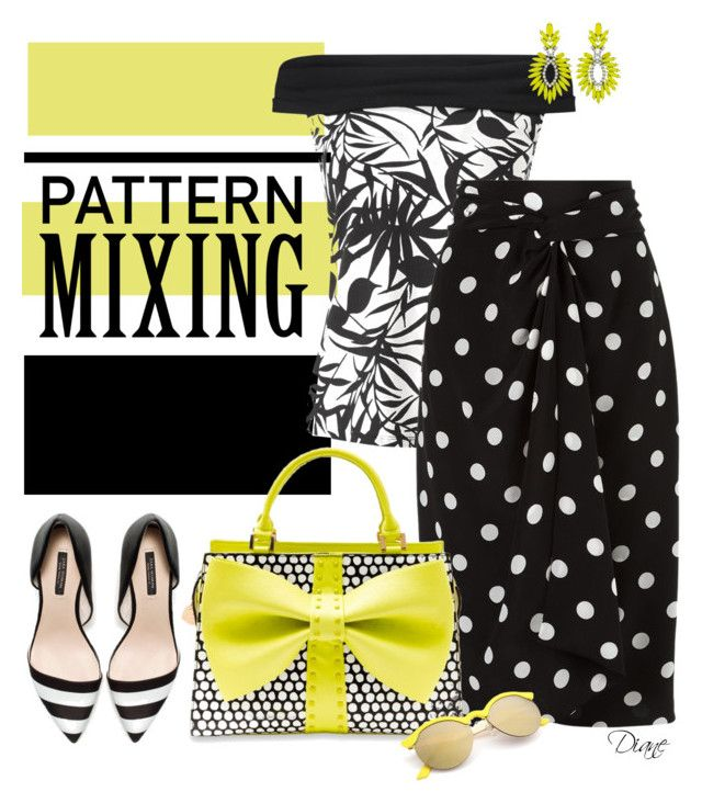 """Head to Toe Pattern Mixing"" by diane-hansen ❤ liked on Polyvore featuring Casetify, Jacques Vert, Andrea Marques, Betsey Johnson, Elizabeth Cole and patternmixing"