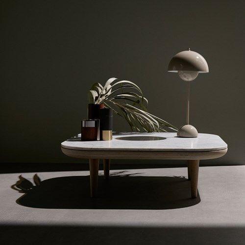Flowerpot VP3 bordslampa - Flowerpot VP3 bordslampa - grey beige
