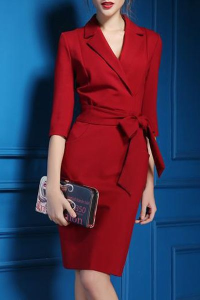 office holiday party dress in a rich red (also looks great in black) ♦F&I♦