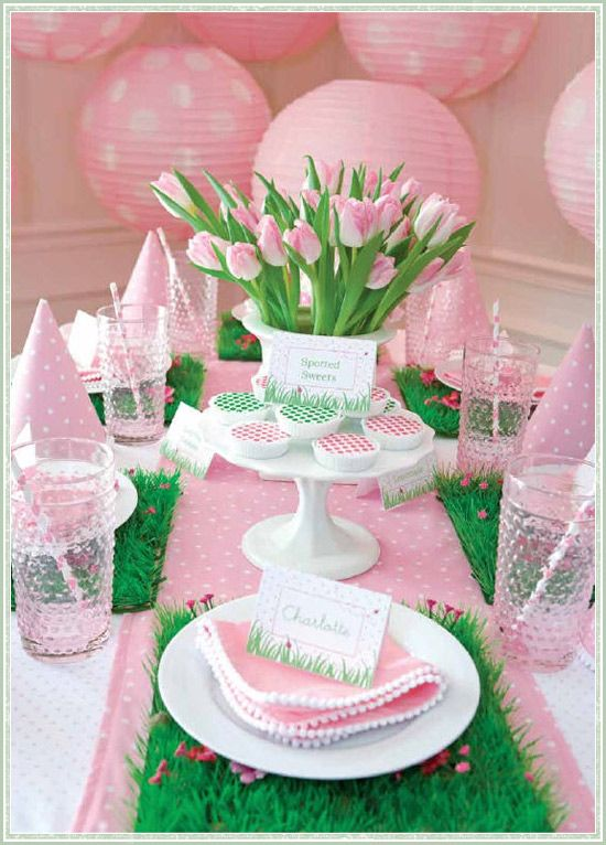 It's a party for girls!!!!! Garden theme with pretty dresses and big hats.