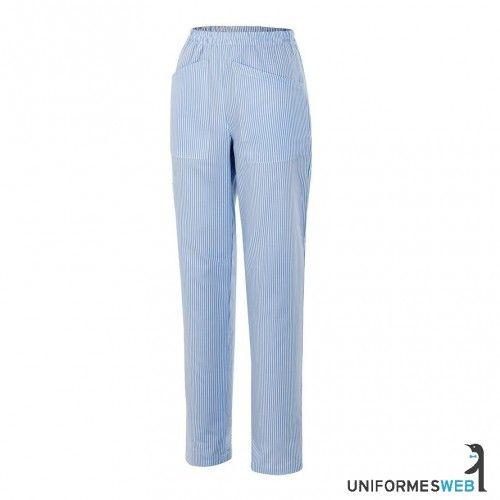 uniforme de limpieza pantalón de pijama de rayas con bolsillos de Uniformes Web