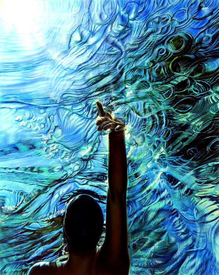 incredible oil painting of water - ana teresa fernandez