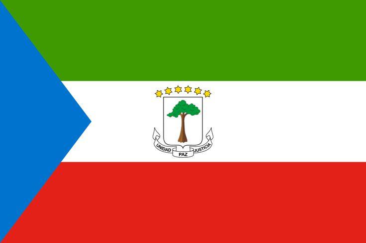 Flag of Equatorial Guinea - Galeria de bandeiras nacionais – Wikipédia, a enciclopédia livre