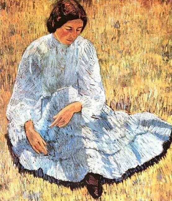 Robert Falk (Russian 1886–1958) [Post-Impressionism, Neo-Impressionism, Avant-Garde, Futurism] Lisa in the Sunlight 1907.