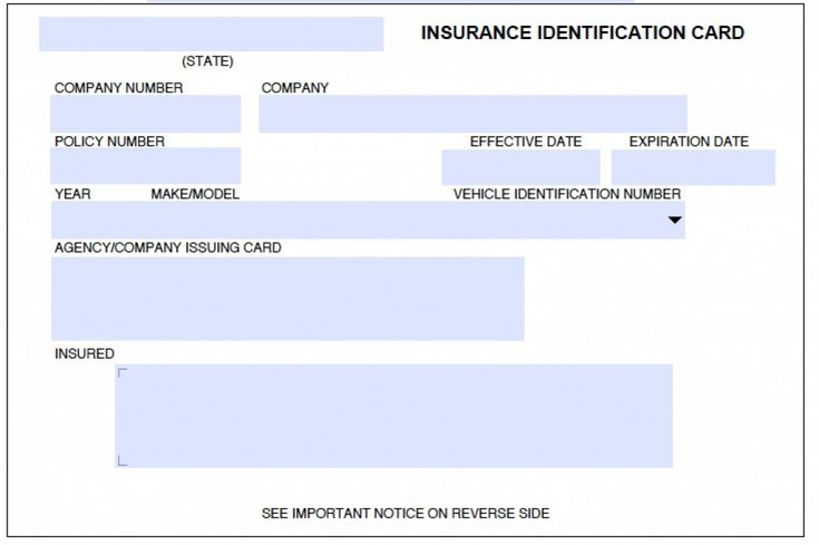 Download auto insurance card template insurance