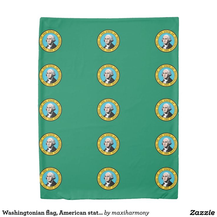 Washingtonian flag, American state flag Duvet Cover