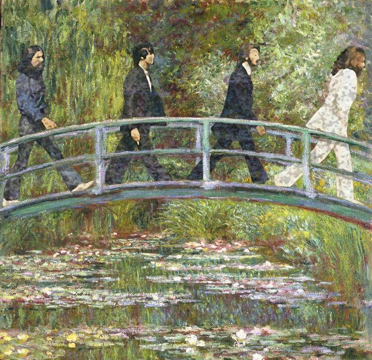 Modern Monet - The Beatles Walk Over the Abbey Road Bridge. Awesome Canvas Potential!! ;)