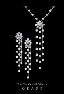Graff diamond necklace and earrings
