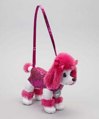 """Fuchsia Checker Poodle Purse by Poochie  Co. Sherilyn got a lot of compliments on her """"purse""""!"""