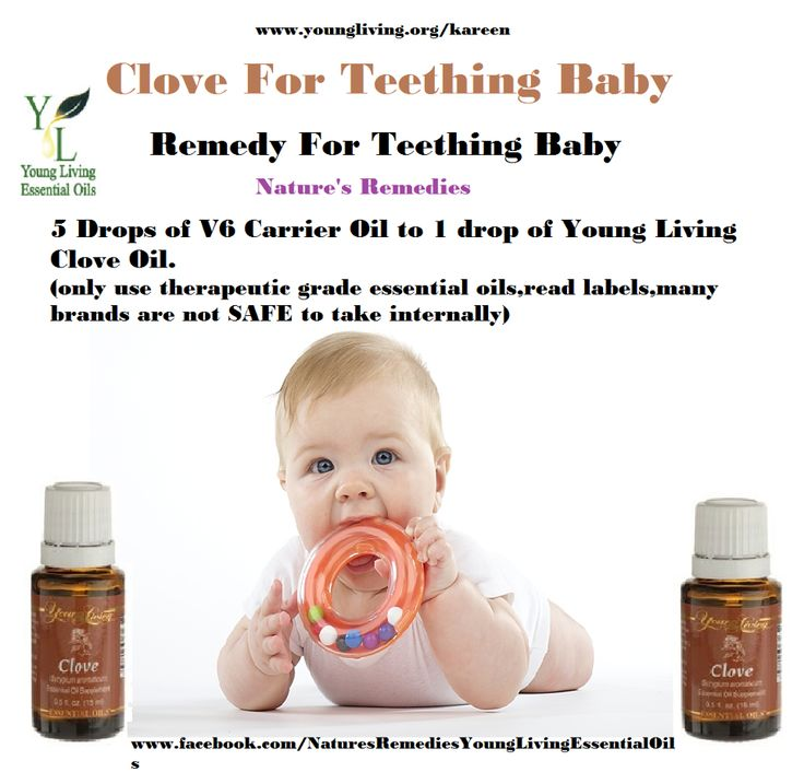 Young Living Clove Essential Oil Teething Baby. For more info or to order please go to www.EssentialOilsEnhanceHealth.com