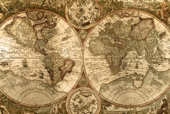 A beautiful old world Map. Ultimate goal, to travel and explore this beautiful world we have been graced with inhabiting