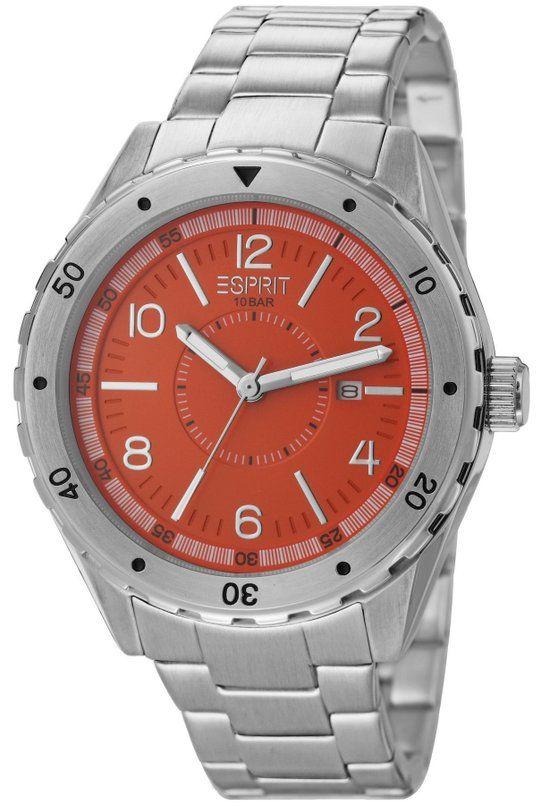 ESPRIT -  Alamo Orange - ES105541004 - Horloge - 46 mm - Zilver