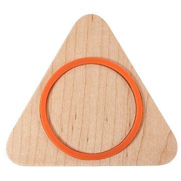 Qi triangle charge du chargeur sans fil chargeur de plaque de bois de pad pour téléphone portable Vente - Banggood.com
