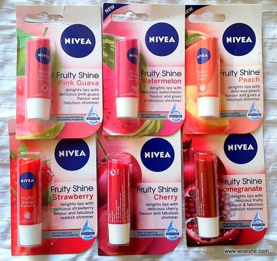 All Nivea Lip Balms Reviews and Swatches