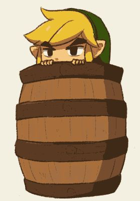 Legend of Zelda Fan Art ~ This is reeeeaaally freaking cute Link fan art! My compliments to the artist!