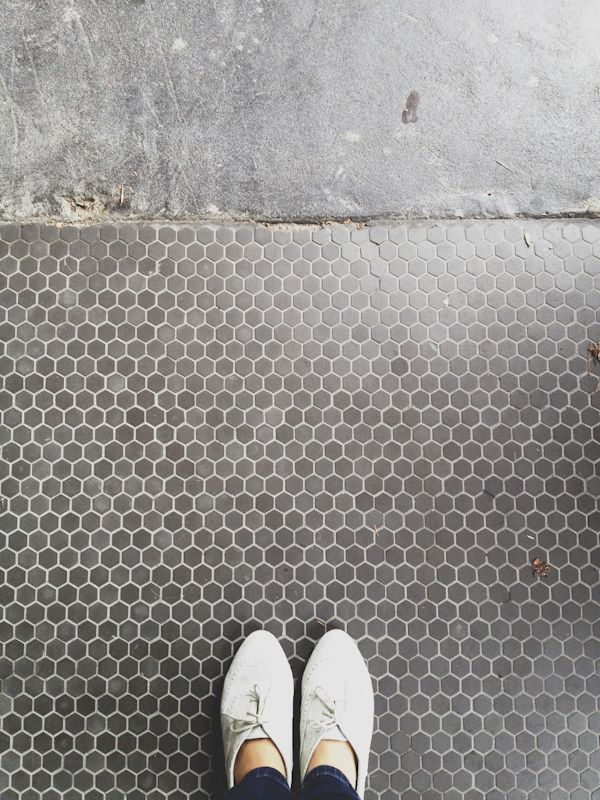 Still like the small hexagonal tiles - although prefer white  geometric tiles - yes please (colour & all)