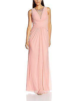 18, Pink (Dusty Rose), Mascara Women's Pleated Cross Waist Dress NEW