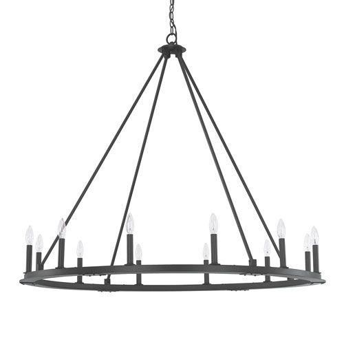 Capital Lighting Fixture Company Pearson Black Iron Twelve Light Chandelier On SALE $772