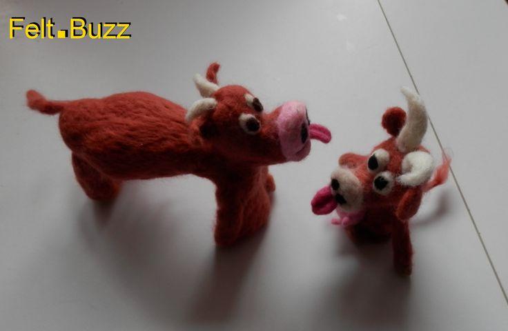 Les vaches Limousines en feutre! Marionnettes du doigt