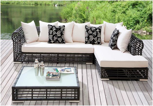 Outdoor Sectional Sofa Resin Wicker Patio Furniture