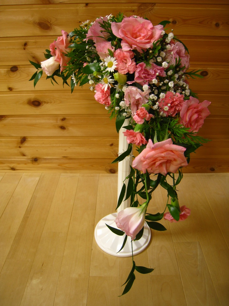 54 best burgundy peach cream images on pinterest for Crescent bouquet
