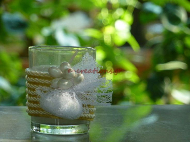 #ΓΑΜΟΣ ⁞ Μπομπονιέρα.. αρωματικό κερί βανίλια σε γυάλινο ποτήρι! Μπορεί να γίνει και συνδυασμός με προσκλητήριο... η επιλογή είναι δική σας!