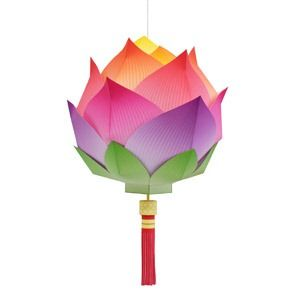lotus-paper_lantern_for Chinese New Year http://www.finecraftguild.com/lotus-flower-paper-lantern/#