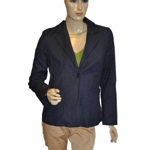 Liz Lange The Collection Blue Cotton Maternity Blazer jacket Size X-Small  #Liz_Lange #Apparel