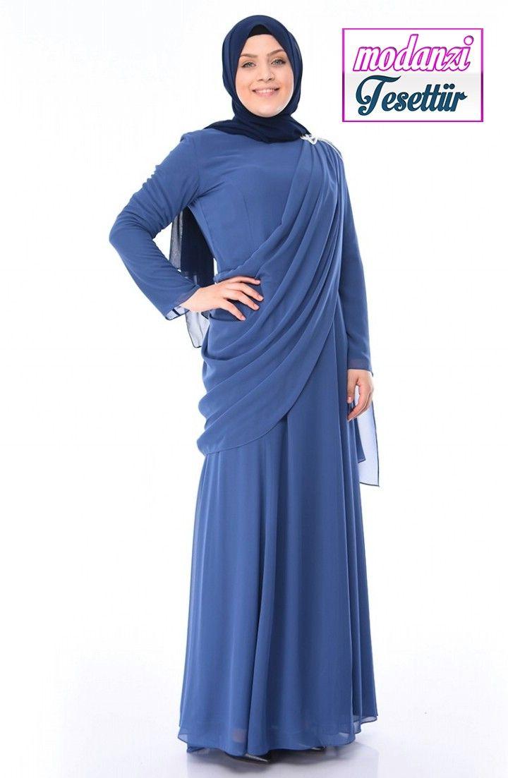 Sefamerve Buyuk Beden Abiye 2020 Buyuk Beden Tasli Abiye Elbise 1132 01 Indigo 2020 Moda Stilleri Elbise Elbise Modelleri