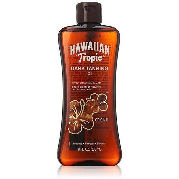 Hawaiian Tropic Hawaiian Tropic oscuro bronceado Petróleo ($15) ❤ liked on Polyvore featuring filler
