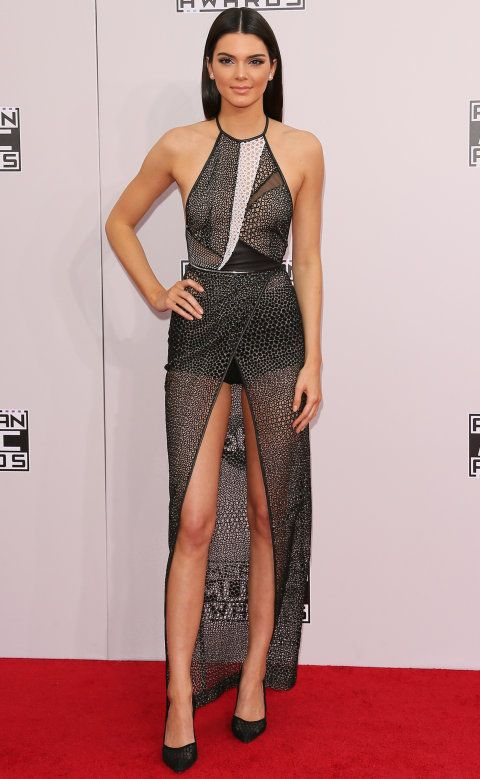 kendall jenner wearing yigal azrouel at the AMAs