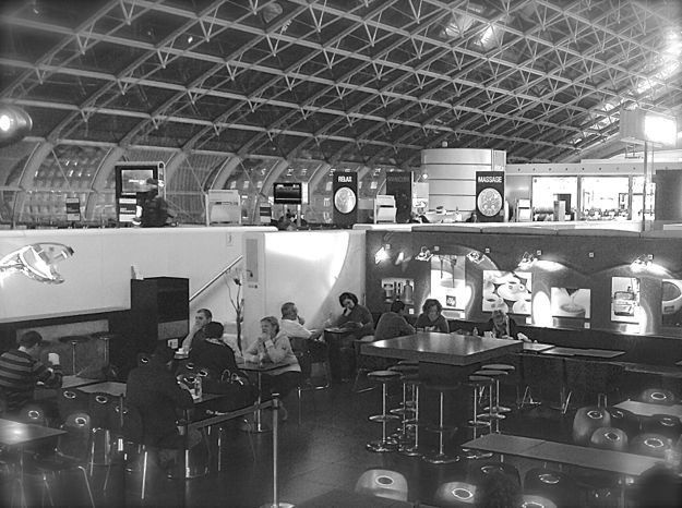 airport coffee shop. Charles de Gaulle. Paris. France.