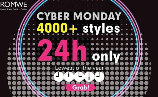 Shopping with Glenz: Romwe Cyber Monday sale!!!